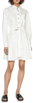 Cue Cotton Belted Shirt Dress
