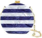 Edie Parker 'Oscar' striped round clutch - women - Acrylic - One Size