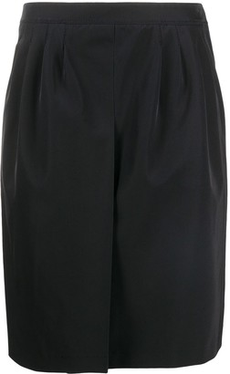 Prada Pre-Owned 1990s Box Pleat Short Skirt