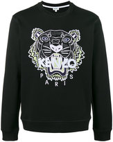 Kenzo tiger embroidered sweatshirt - men - Cotton/Polyester - XXS