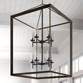 Three Posts Thorne 1- Light Lantern Rectangle Chandelier Finish: Gunmetal Bronze, Shade Color: Clear