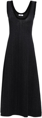 CASASOLA Flared Marled Stretch-knit Midi Dress