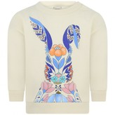 Gucci GUCCIBaby Girls Ivory Floral Rabbit Sweatshirt