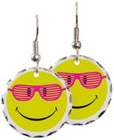 Royal Lion Earring Circle Charm Neon Yellow Smiley Face Sunglasses