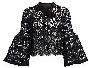 Carolina Herrera Women's Icon Bell Sleeve Lace Bolero