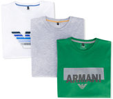 Armani Junior logo 3 T-shirt pack - kids - Cotton - 14 yrs