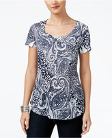 Style&Co. Style & Co. Paisley-Print Top, Only at Macy's
