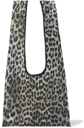 Ganni Cherry Blossom Leopard-print Vinyl Shoulder Bag