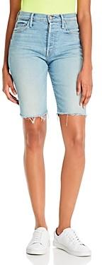 Mother The Tomcat Denim Bermuda Shorts