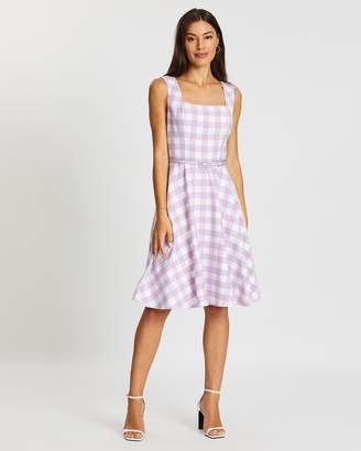 Review Arabella Check Dress