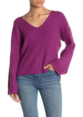 Free Press V-Neck Ribbed Sweater