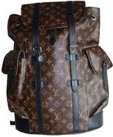 Louis Vuitton Christopher Backpack Brown Cloth Bag