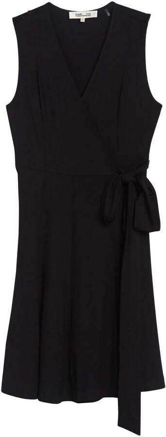 Diane von Furstenberg Jasmine Sleeveless Wrap Midi Dress