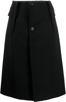 Maison Margiela A-line patch pocket skirt
