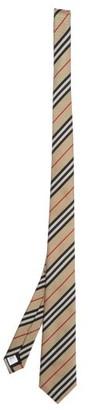 Burberry Manston Heritage Icon-stripe Silk Tie - Mens - Beige