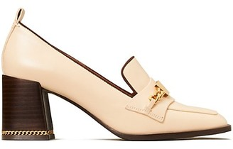 Tory Burch Ruby Block-Heel Leather Loafers
