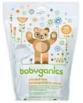 BabyGanics 75-Count Mandarin Scented Alcohol-Free Hand Sanitizing Wipes