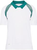 L'Etoile Sport - Medea Two-tone Mesh-paneled Stretch-knit Polo Shirt - White