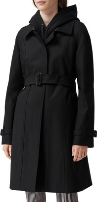 Burberry Sipson Cotton Gabardine Belted Swing Coat