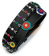 Tory Burch Millefiori Leather Double-Wrap Bracelet