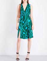 Diane von Furstenberg Abstract-pattern silk wrap dress