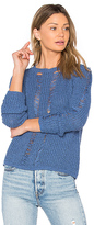 Central Park West Carmel Crop Sweater in Blue. - size S (also in )