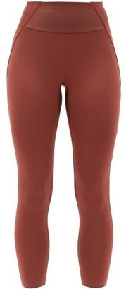 Vaara Kari Panelled Stretch-jersey Leggings - Brown