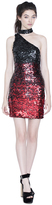 Alice + Olivia Soshana Embellished One Shoulder Dress
