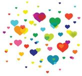 Wall Candy Arts Overlapping Hearts Wall Decal Set