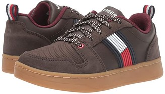 Tommy Hilfiger Cade Court Low (Little Kid/Big Kid) (Chocolate) Kid's Shoes