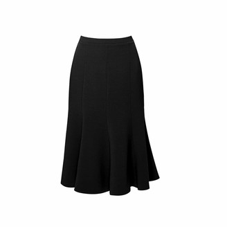 Rumour London Lucy Wool Midi Skirt In Black