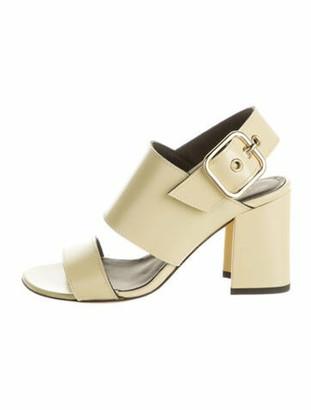 Dries Van Noten Patent Leather Slingback Sandals Yellow