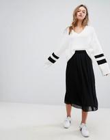 Monki Frill Hem Midi Skirt