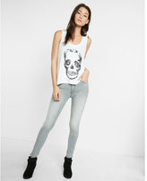 Express one eleven skull scoop neck tank