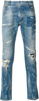 Faith Connexion paint splatter jeans