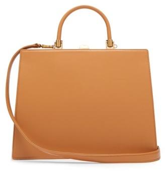 Rodo Frame Top-handle Leather Bag - Tan