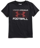 Under Armour Football Graphic HeatGear ® T-Shirt (Toddler Boys & Little Boys)