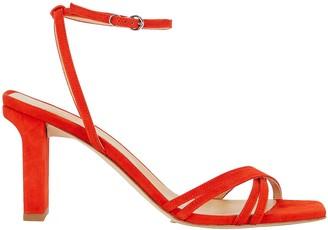 AEYDĒ Annabella Suede Strappy Sandals