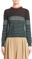 Moncler Women's Stripe Mohair Blend Sweater
