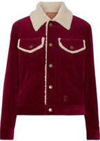 Marc Jacobs Faux Shearling-lined Corduroy Jacket - Burgundy