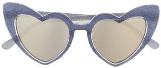 MonnaLisa Heart-Shaped Glitter Sunglasses