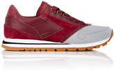 Brooks MEN'S REFLECTIVE-DETAIL SNEAKERS-BURGUNDY SIZE 9.5 M