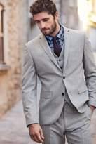 Mens Next Light Grey Slim Fit Nep Suit: Jacket - Grey