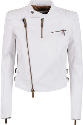 DSQUARED2 Quilted Zipped Biker Jacket