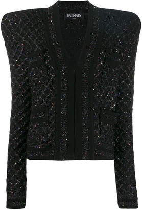 Balmain sequin tweed jacket