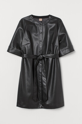 H&M H&M+ Imitation leather dress