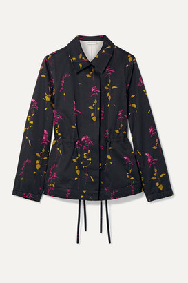 Dries Van Noten Varella Floral-print Cotton-twill Jacket - Black
