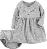 Carter's Baby Girl Gray Cat Dress