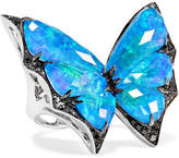 Stephen Webster Fly By Night 18-karat White Gold Multi-stone Ring - 6