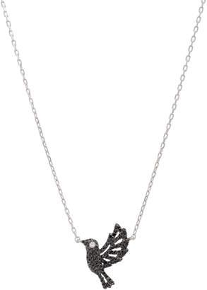 Casa Reale 18k White Gold Two-Tone Diamond Dove Necklace